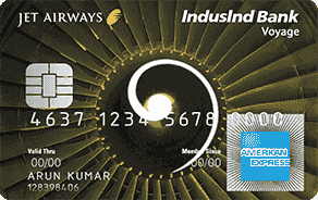 Jet Airways IndusInd Bank Voyage AMEX Credit Card