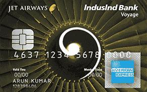 Jet Airways IndusInd Bank Voyage AMEX Credit Card