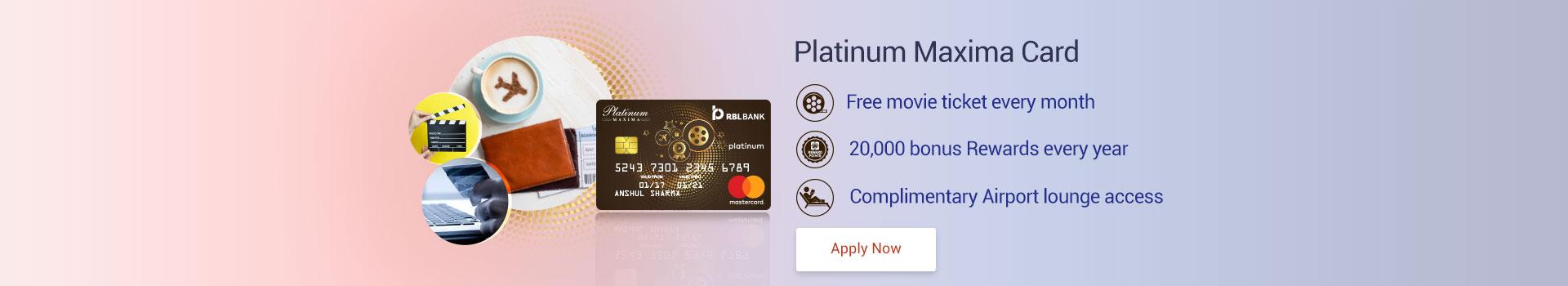 RBL Bank Platinum Maxima Credit Card Review